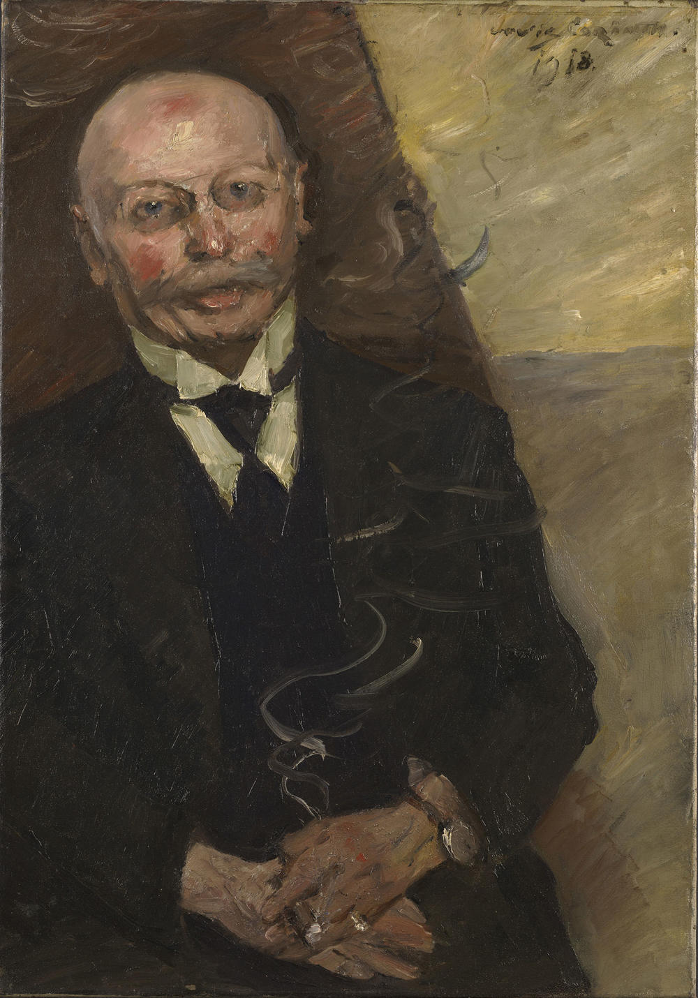 "Corinth, ""Portrait of the Art Dealer Heinrich Thannhauser"""
