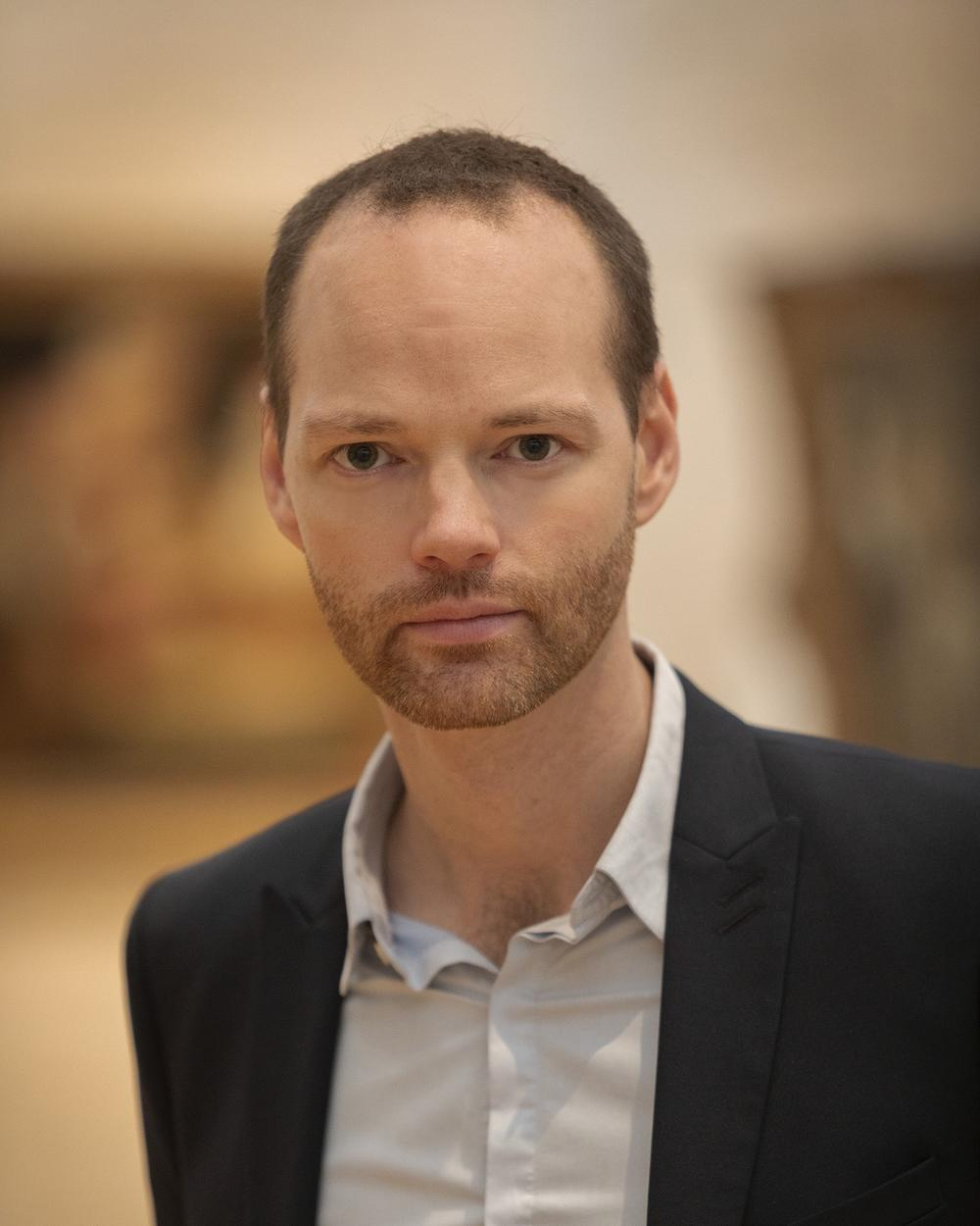 Guillame Kientz, Curator of European Art in the Kahn Building South Gallery