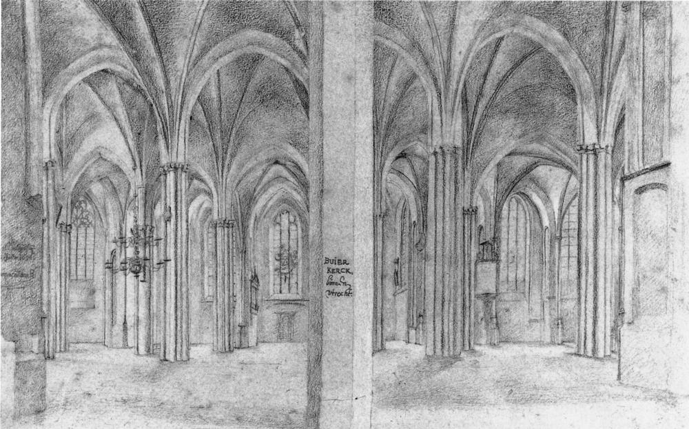 Pieter Saenredam, Nave of the Buurkerk, from North to South (1636) Municipal Archives, Utrecht