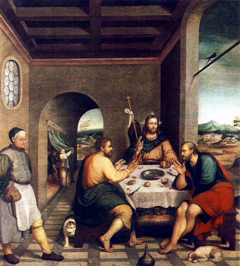 Jacopo Bassano, The Supper at Emmaus (c. 1537-39) Cittadella, Italy