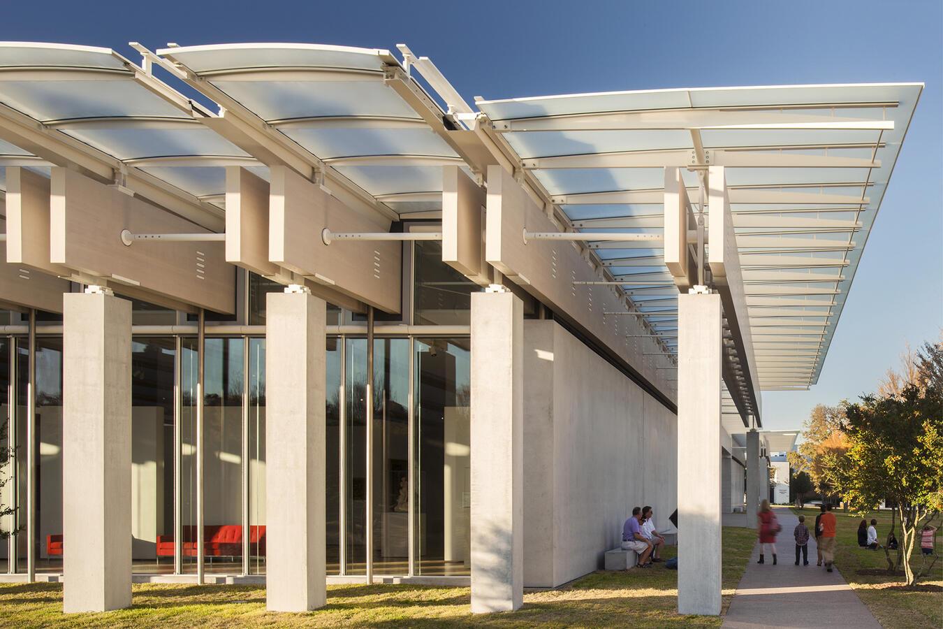 Renzo Piano Pavilion façade, photograph by Nic Lehoux