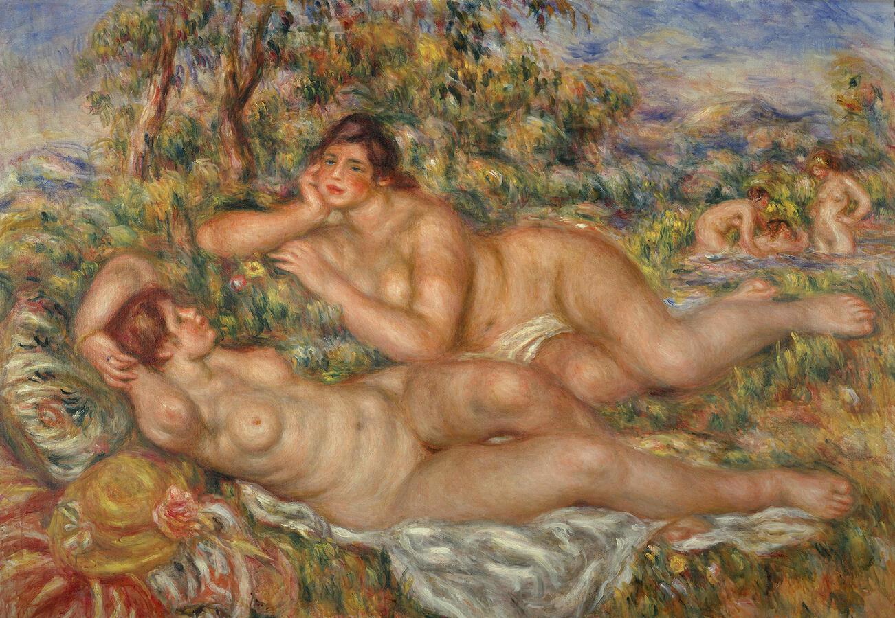 """Pierre-Auguste Renoir """"The Bathers,"""" 1918-19. Musée d'Orsay, Paris  Photo by Hervé Lewandowski © RMN-Grand Palais/Art Resource, NY"""