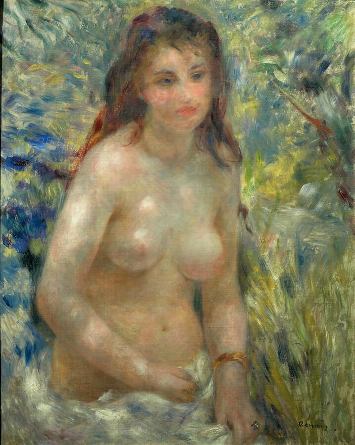 """Pierre-Auguste Renoir """"Study: Torso, Effect of Sun,"""" c. 1876. Musée d'Orsay, Paris Photo by Patrice Schmidt © RMN-Grand Palais/Art Resource, NY"""