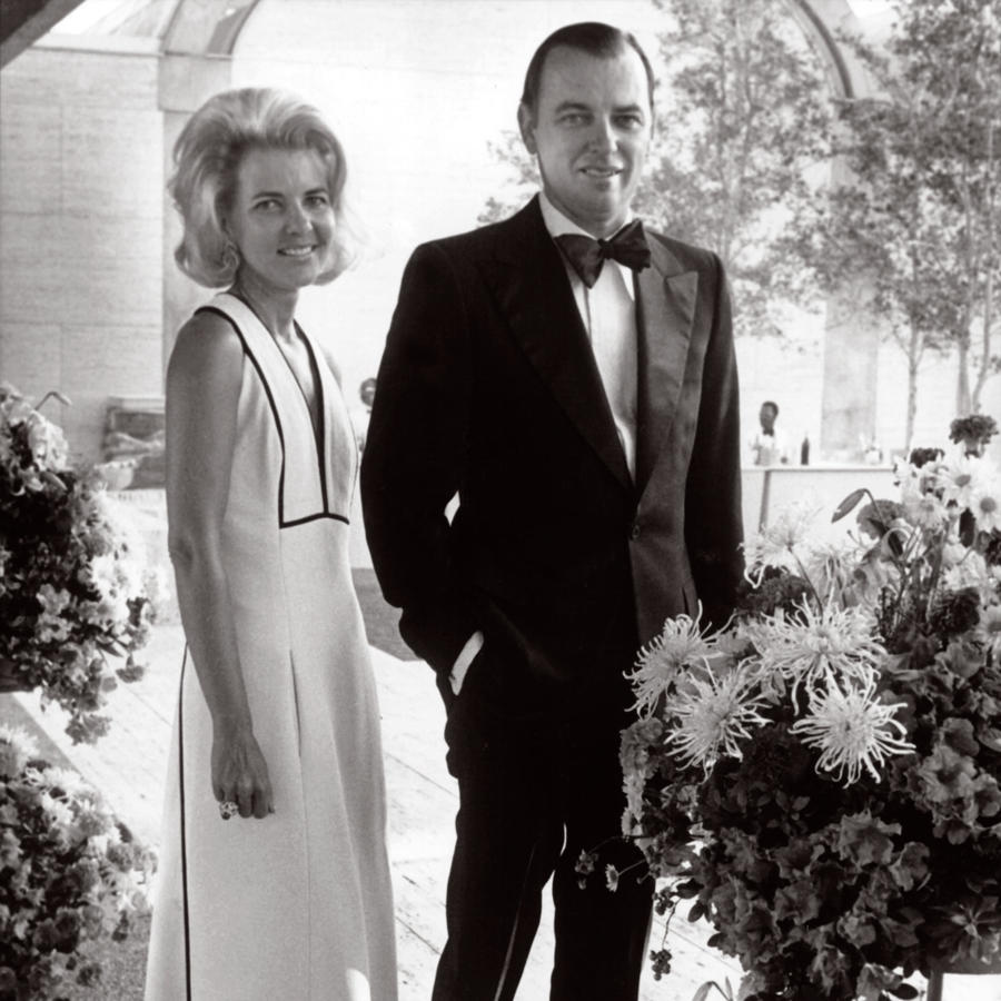 Mr. and Mrs. Ben J. Fortson at the opening of the Kimbell Art Museum in 1972.