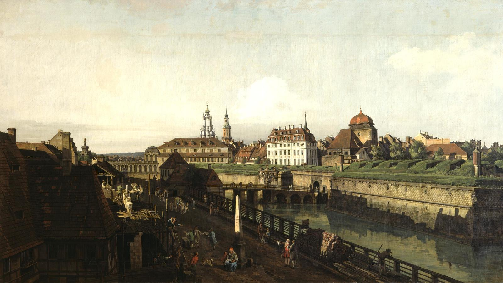 """Bellotto, """"The Old Fortifications in Dresden"""""""