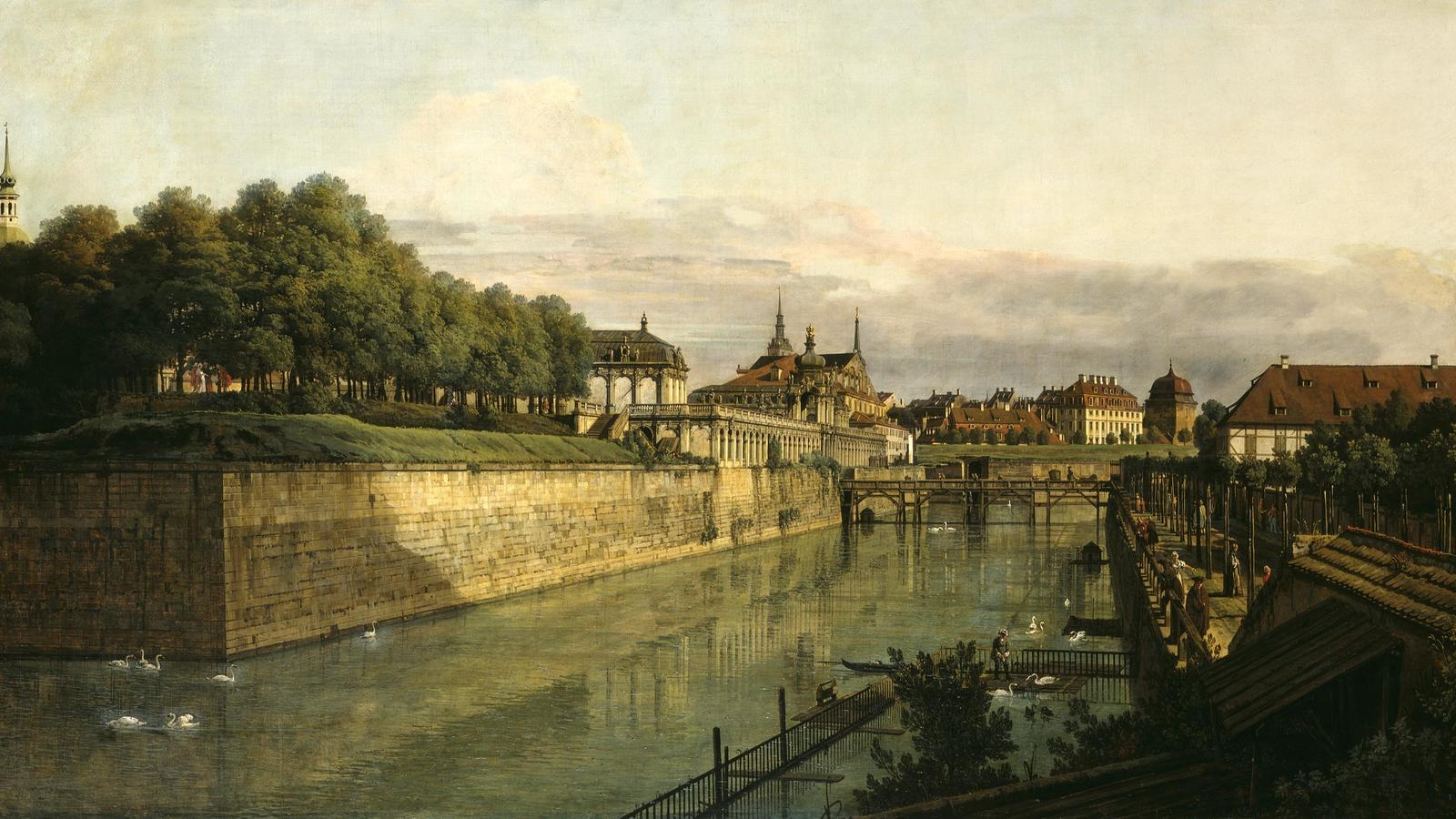 "Bellotto, ""The Zwinger Moat in Dresden"""