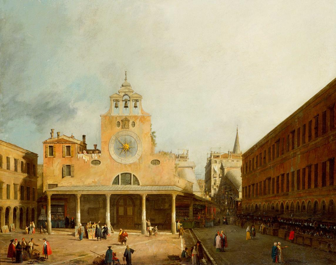 "Canaletto, ""The Campo San Giacometto di Rialto in Venice"""