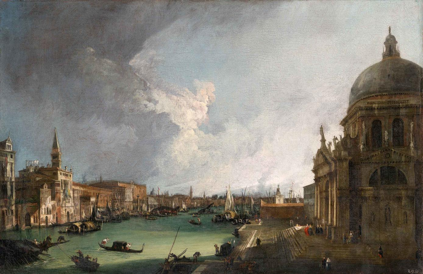 "Canaletto, ""At the Mouth of the Canal Grande in Venice"""