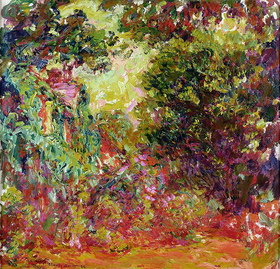 "Monet, ""The Artist's House Seen from the Rose Garden"" 1922-24, oil on canvas, Musée Marmottan Monet Paris France"