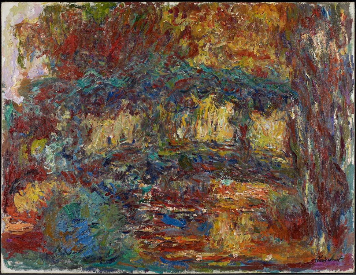 "Monet, ""The Japanese Bridge"" 1922–24, oil on canvas, Minneapolis Institute of Arts"