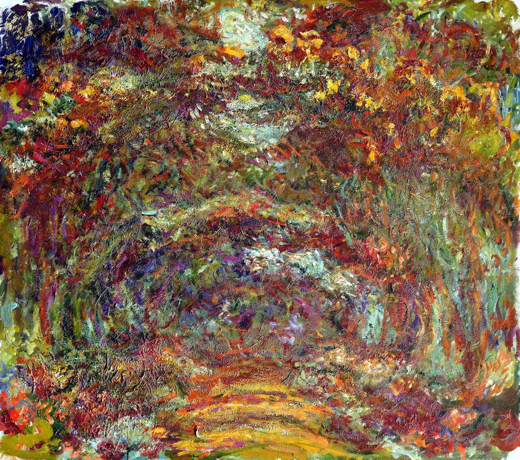 """Monet, """"Path under the Rose Arches"""" Giverny, 1918–1924, oil on canvas, Musée Marmottan Monet, Michel Monet Bequest, 1966, inv. 5089"""