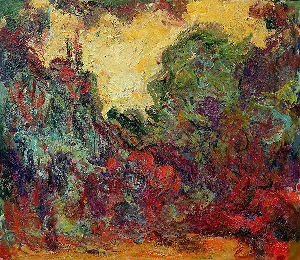 """Monet, """"The Artist's House Seen from the Rose Garden"""" 1922-24, Musée Marmottan Monet, Paris France"""