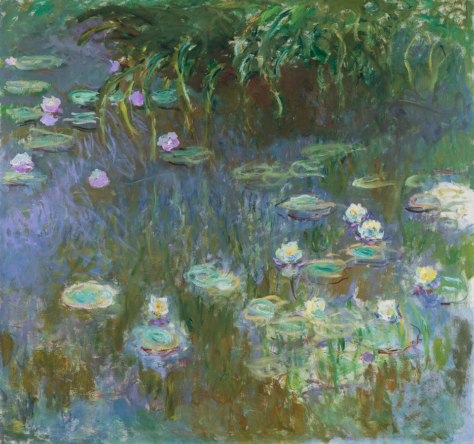 """Monet, """"Water Lilies"""" 1922, oil on canvas, Toledo Museum of Art, Purchased with funds from the Libbey Endowment, Gift of Edward Drummond Libbey, 19811.54"""