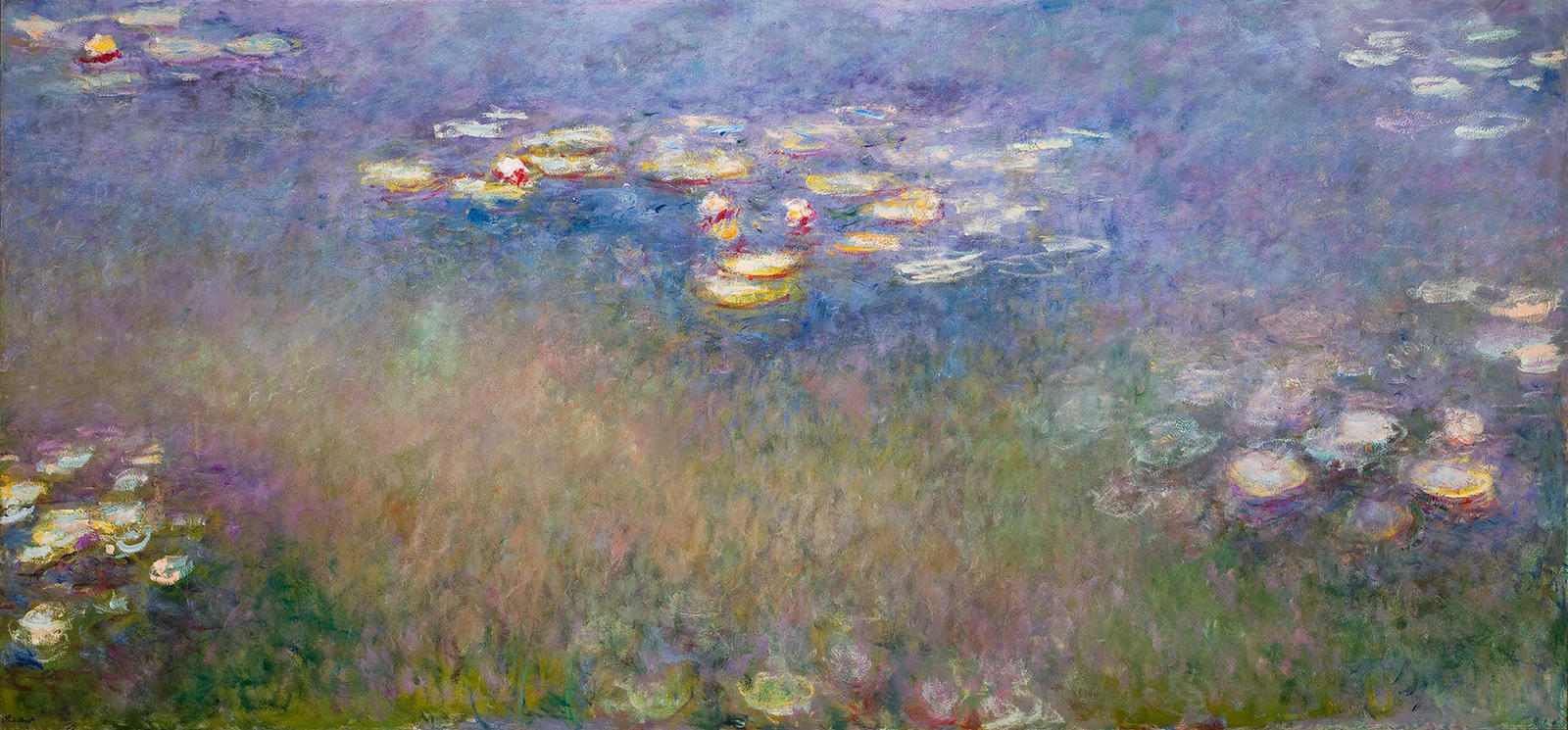 """Monet, """"Water Lilies"""" 1915-26, oil on canvas, Saint Louis Art Museum, The Steinberg Charitable Fund 134:1956"""