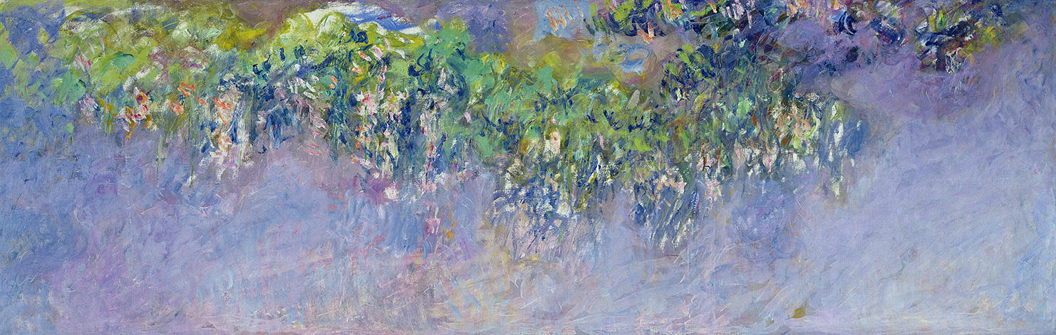 "Monet, ""Wisteria"" 1916–1919, oil on canvas, Musée Marmottan Monet, Michel Monet Bequest, 1966, inv. 5124"