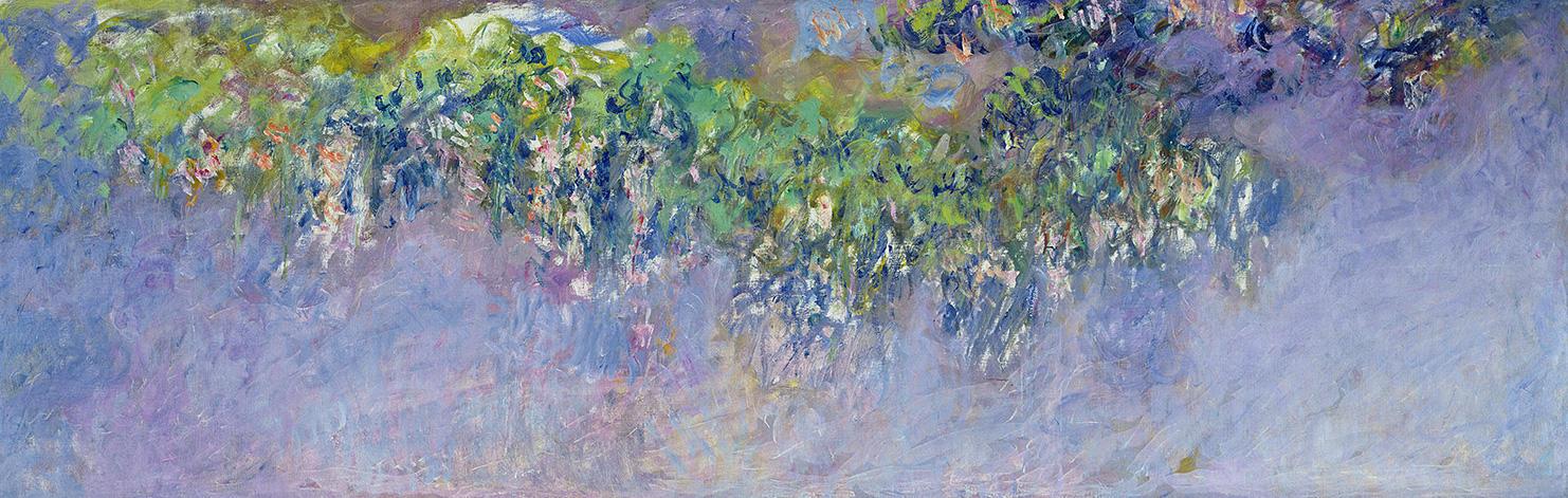 """Monet, """"Wisteria"""" 1916–1919, oil on canvas, Musée Marmottan Monet, Michel Monet Bequest, 1966, inv. 5124"""