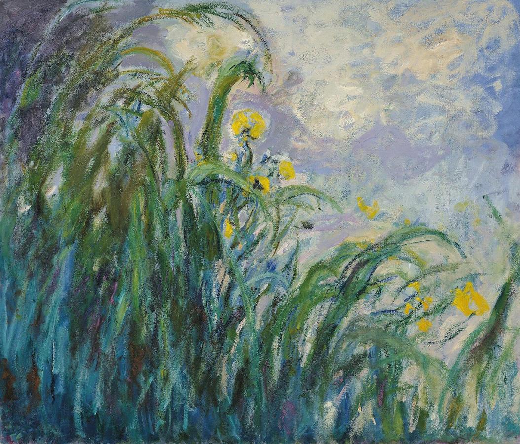 """Monet, """"Yellow Irises"""" 1917–19, oil on canvas, Musée Marmottan Monet, Paris"""
