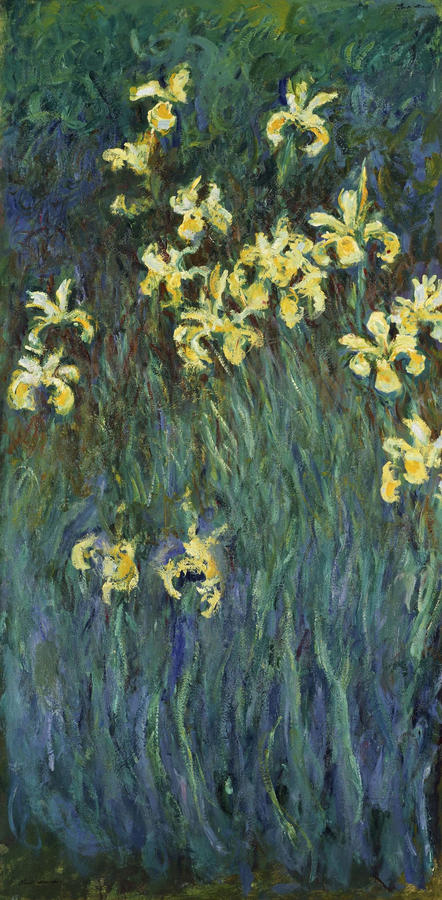 """Monet, """"Yellow Irises"""" 1914–17, oil on canvas, The National Museum of Western Art, Tokyo"""