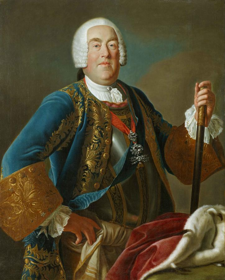 "Rotari and workshop, ""Elector Friedrich August II of Saxony, as King August III of Poland"""