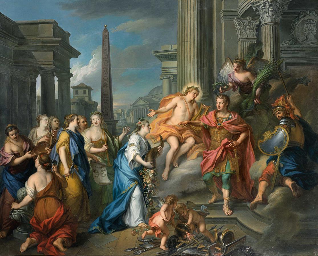 "Louis de Silvestre II, ""Emperor Augustus Closes the Temple of Janus"""