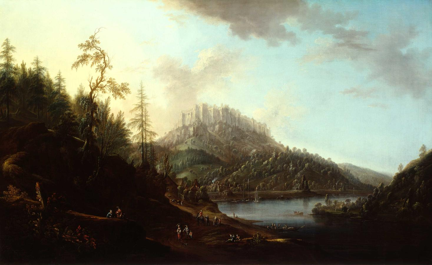 """Thiele, """"The Königstein Fortress"""""""