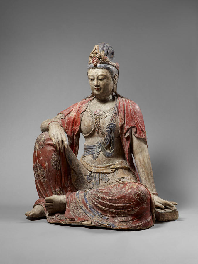 Bodhisattva, China, Song dynasty, c. 1125, Polychromed wood, The Sam and Myrna Myers Collection, Photo by Thierry Ollivier