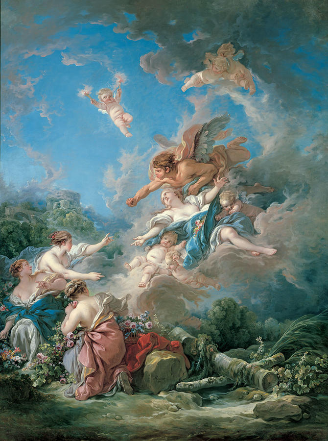 Francois Boucher (French, 1703–1770), Boreas Abducting Oreithyia, 1769, Oil on canvas, 107 5/8 x 80 11/16 in. (273.3 x 205 cm), Kimbell Art Museum, Fort Worth