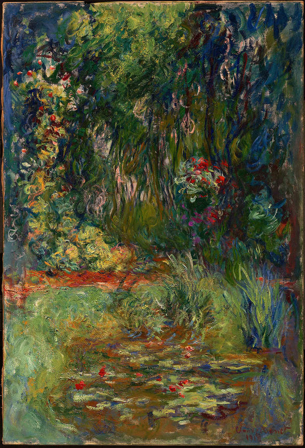 "Monet, ""Corner of the Water-Lily Pond,"" 1918–19. Private collection"