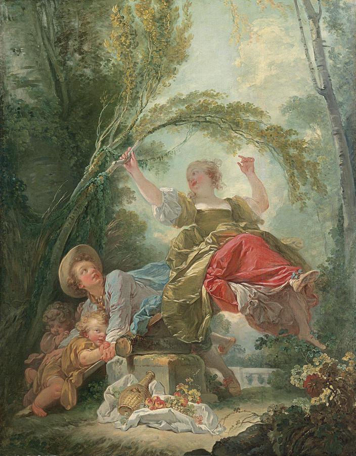 Jean-Honoré Fragonard (French, 1732–1806), The Seesaw, c. 1750–52, Oil on canvas, 47 1/4 x 37 1/4 in. (120 x 94.5 cm), © Museo Thyssen-Bornemisza, Madrid