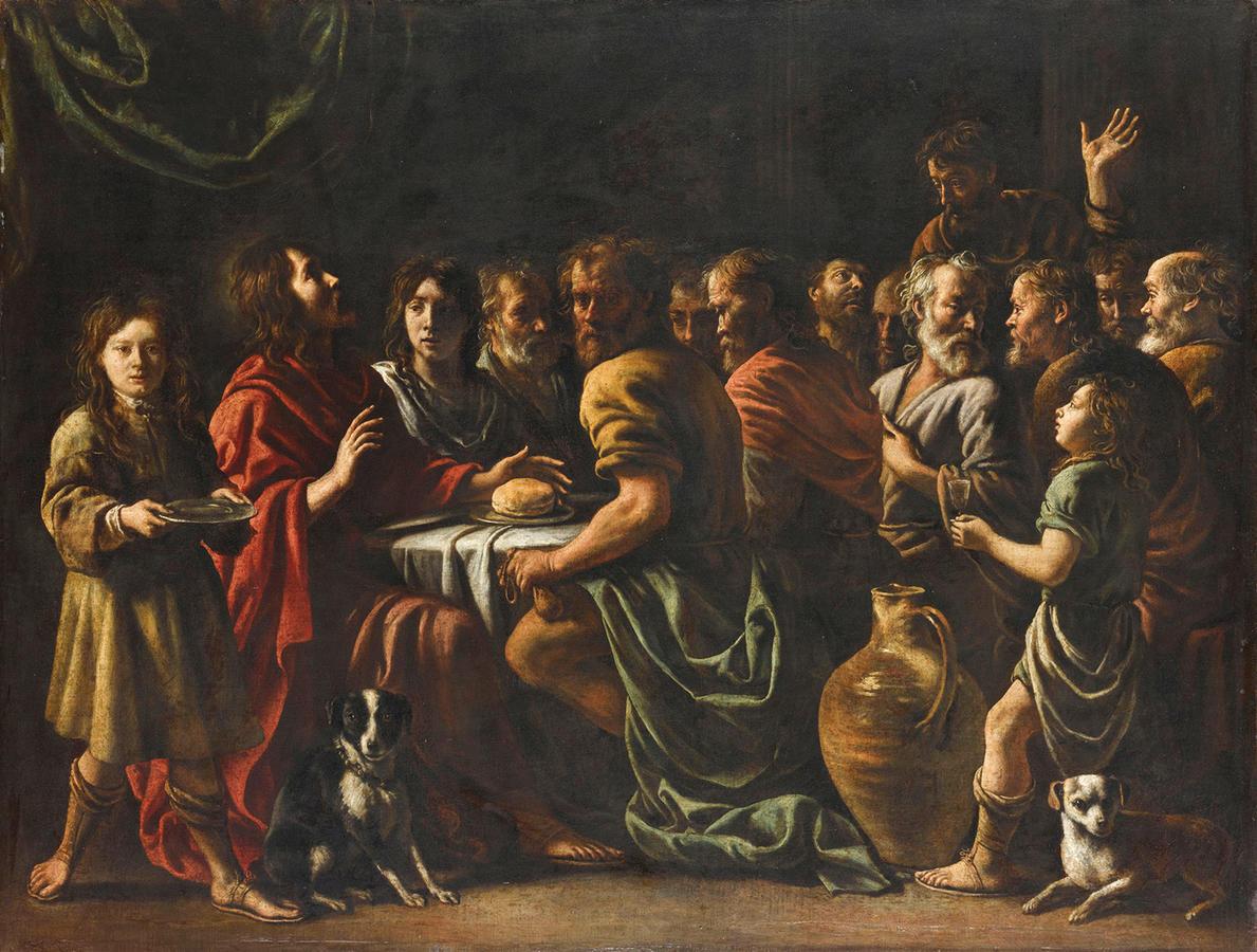Le Nain, The Last Supper, 1650s, Oil on canvas, 35 7/8 x 46 1/2 in. (91.1 x 118.1 cm), Musée du Louvre, Paris