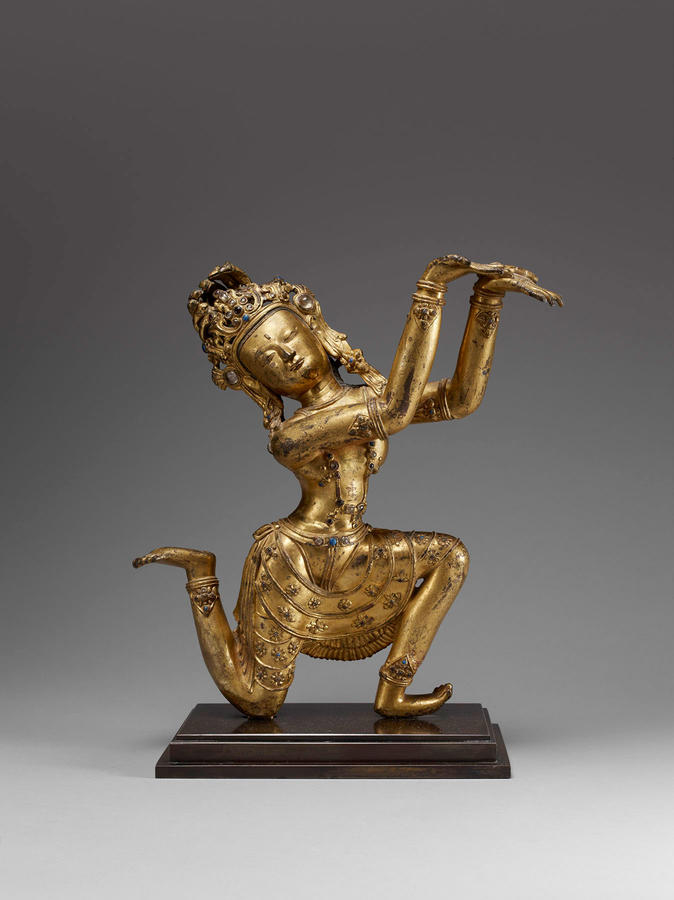 Nagaraja, Tibet, 15th century, Gilded bronze, The Sam and Myrna Myers Collection, Photo by Thierry Ollivier