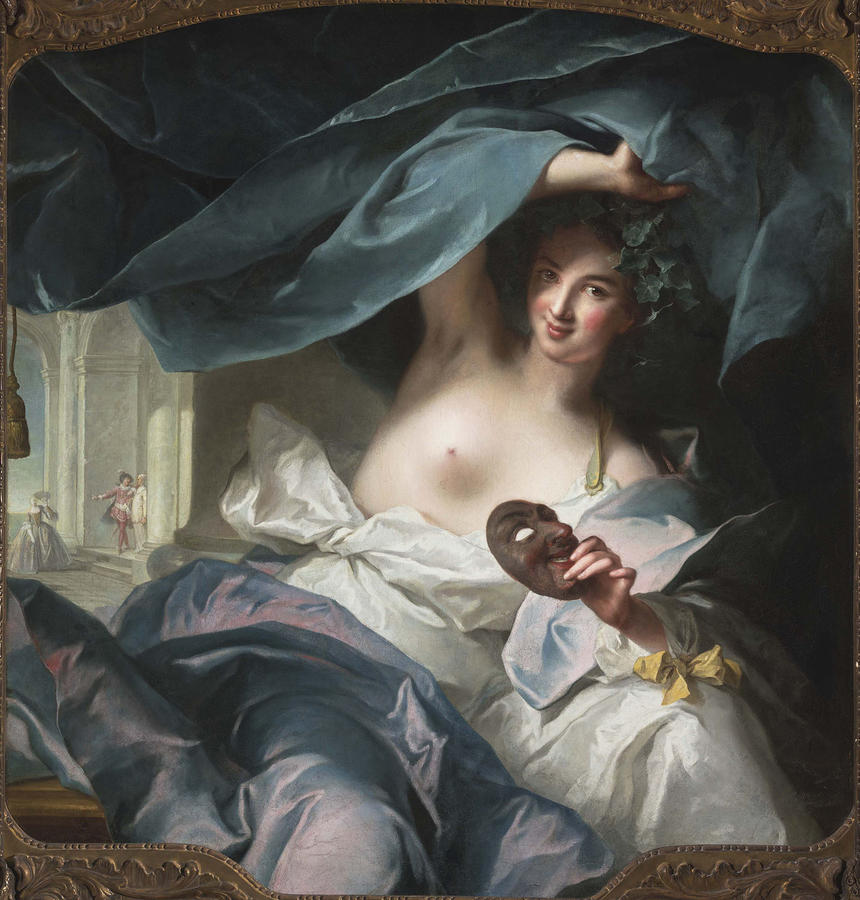 Jean-Marc Nattier (French, 1685–1766), Thalia, Muse of Comedy, 1739, Oil on canvas, 53 1/2 x 49 in. (135.9 x 124.5 cm), The Fine Arts Museums of San Francisco, museum purchase, Mildred Anna Williams Collection, 1954.59