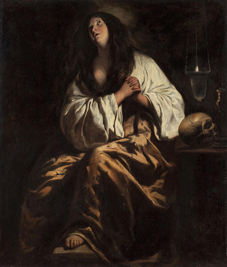 Le Nain, The Penitent Magdalene, c. 1640, Oil on canvas, 56 1/4 x 47 5/8 in. (143 x 121 cm), Private collection. Courtesy of Galerie Canesso, Paris