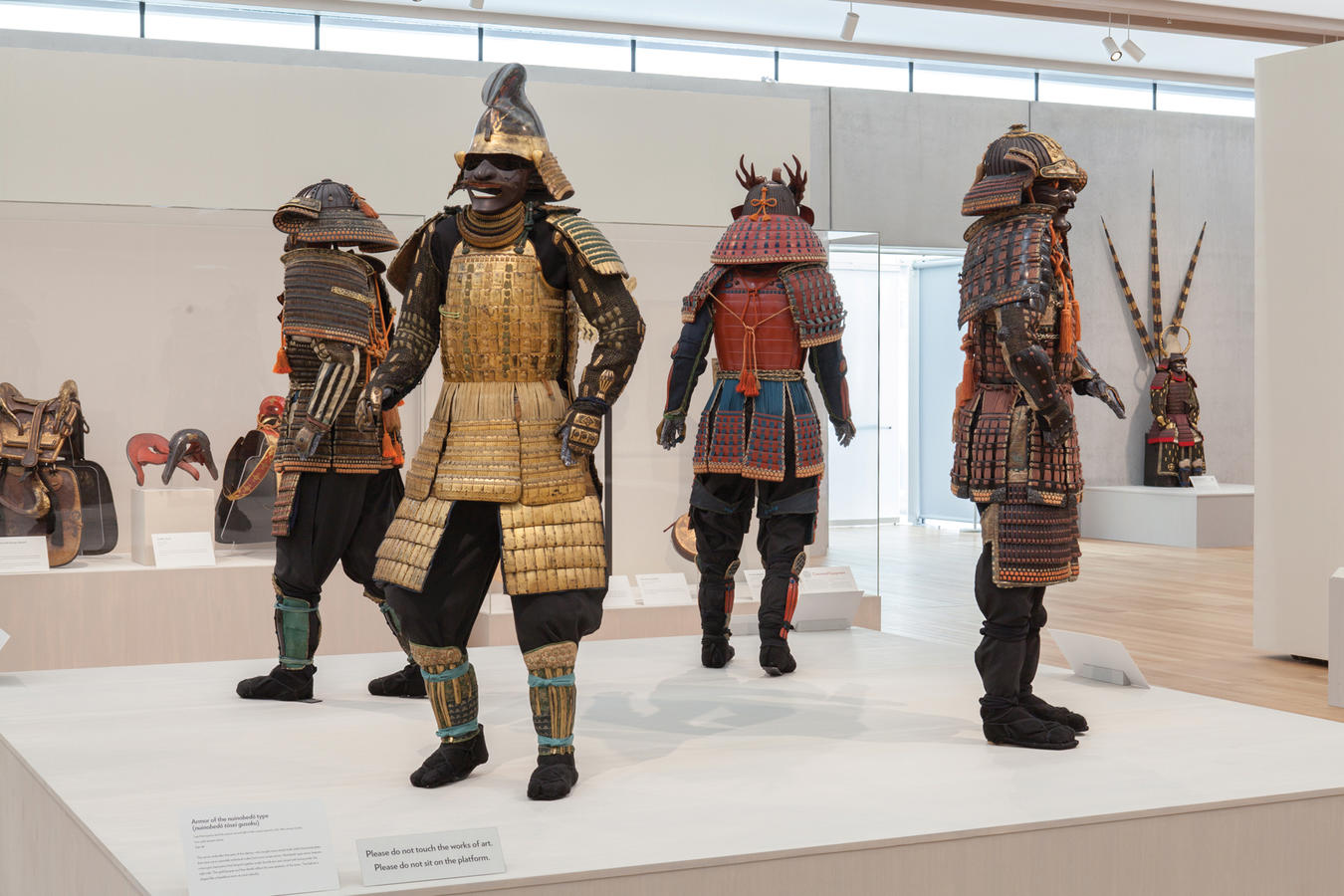 Samurai: Armor from the Ann and Gabriel Barbier-Mueller Collection, Renzo Piano Pavilion, Kimbell Art Museum, February 17, 2014, Courtesy of The Ann & Gabriel Barbier-Mueller Museum, Dallas, Photograph by Robert LaPrelle, © 2014 Kimbell Art Museum