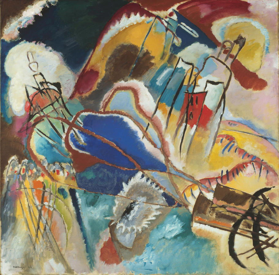 Vasily Kandinsky, Improvisation No. 30 (Cannons), 1913, Oil on canvas, The Art Institute of Chicago, Arthur Jerome Eddy Memorial Collection, © 2013 Artists Rights Society (ARS), New York / ADAGP, Paris