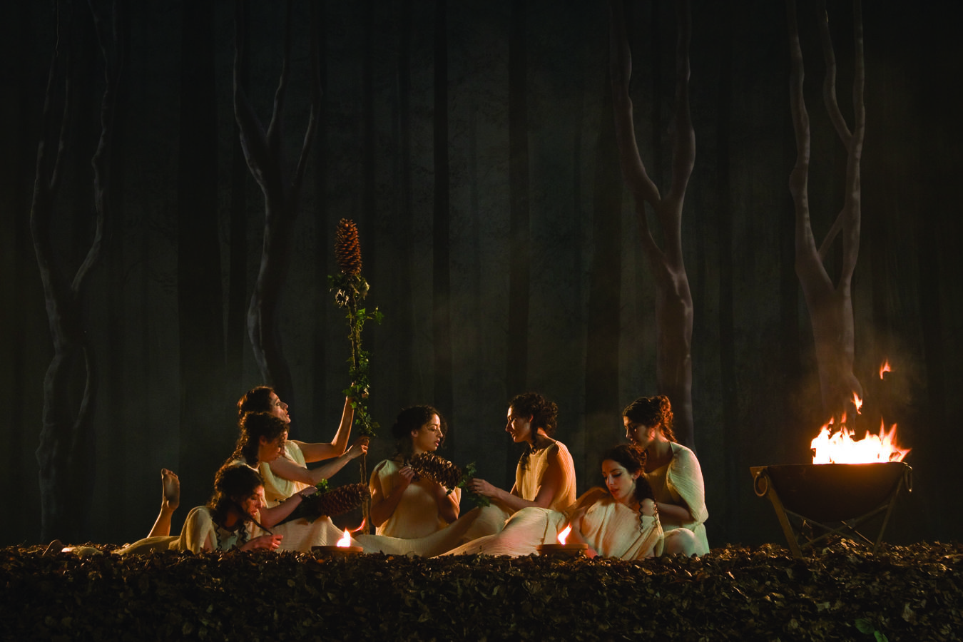 Maenads in the woods, from the film installation The Death of Pentheus