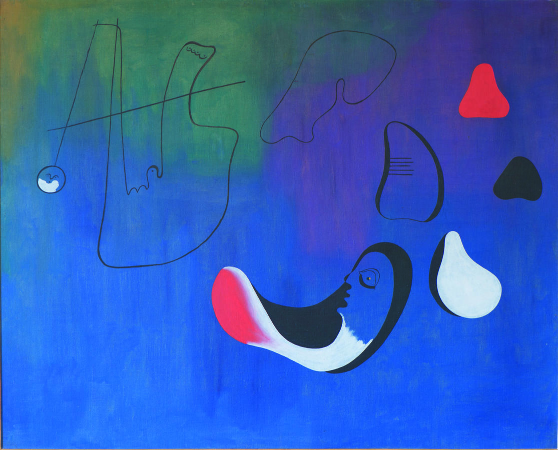 Joan Miró, Painting, 1933, Oil on canvas, 51 1/4 × 63 3/4 in. (130.2 × 161.9 cm), Collection of Nancy Lee and Perry R. Bass, Fort Worth, © Successió Miró / Artists Rights Society (ARS), New York / ADAGP, Paris 2015