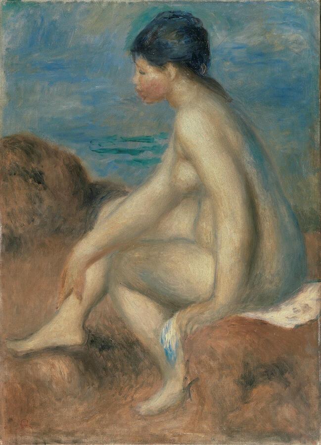 "Pierre-Auguste Renoir, ""Bather,"" oil on canvas, c.1892–93. Seiji Togo Memorial Sompo Japan Nipponkoa Museum of Art, Tokyo"
