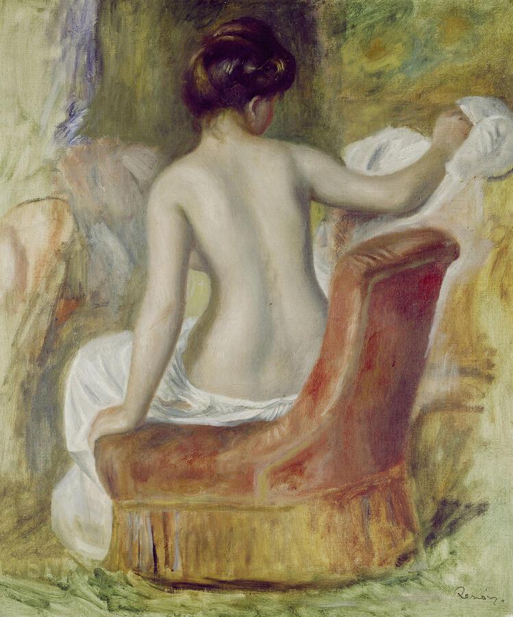 "Pierre-Auguste Renoir, ""Nude in an Armchair,"" oil on canvas, 1890. Kunsthaus Zürich, Legat Dr. Hans Schuler, 1920"