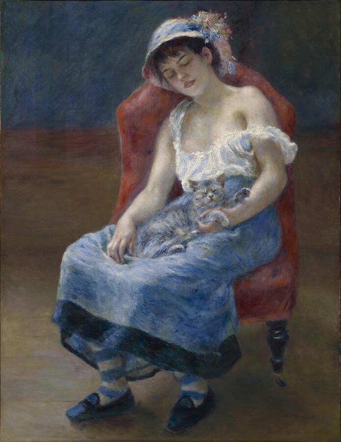 "Pierre-Auguste Renoir, ""Sleeping Girl,"" oil on canvas, 1880. The Clark Art Institute, Williamstown, Massachusetts."