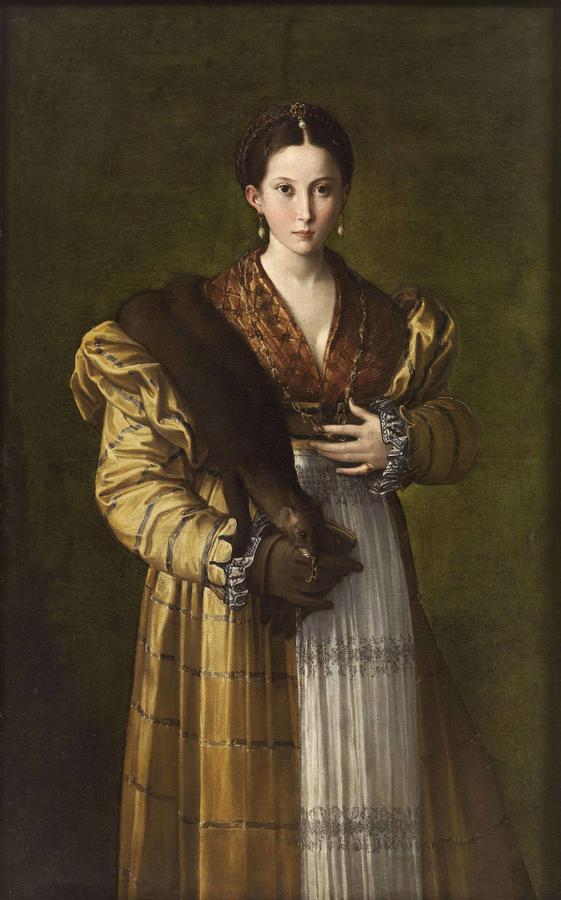 """Parmigianino, """"Antea,"""" c. 1531–34, oil on canvas"""