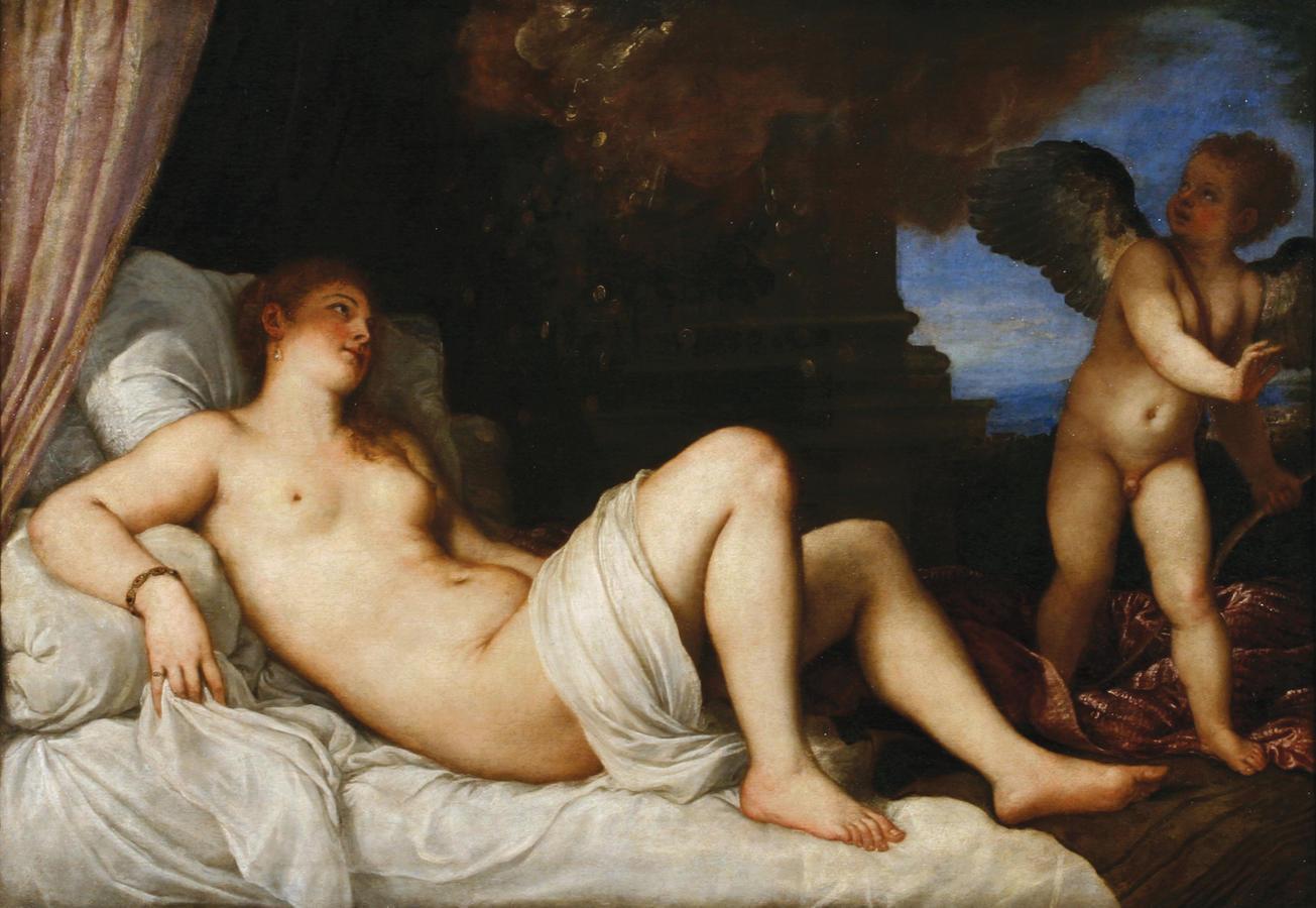 "Titian, ""Danaë, 1544–45, oil on canvas"
