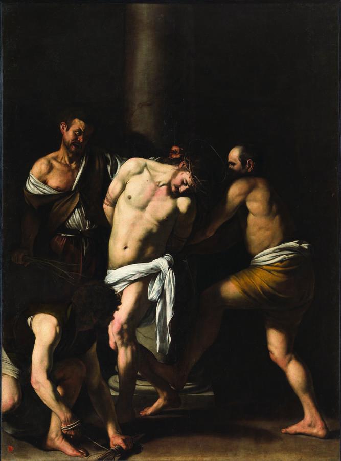 Caravaggio (Michelangelo Merisi), The Flagellation of Christ, 1607, oil on canvas. Museo e Real Bosco di Capodimonte, Naples, coming from Naples, Church of San Domenico Maggiore (property of Fondo Edifici di Culto del Ministero degli Interni)