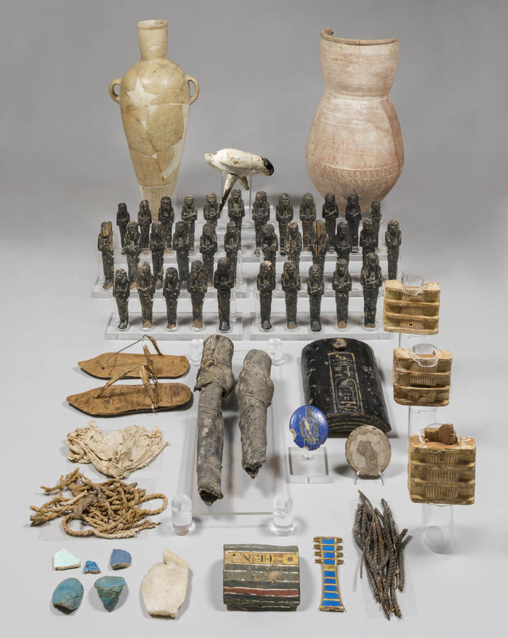 Funerary objects from Nefertari's tomb