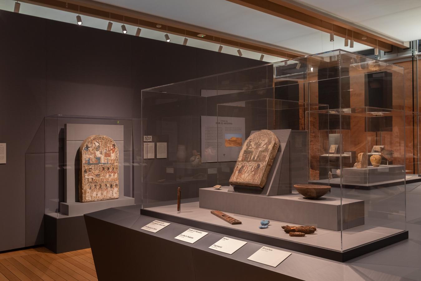 """Queen Nefertari's Egypt"" installation, Robert LaPrelle, Kimbell Art Museum"