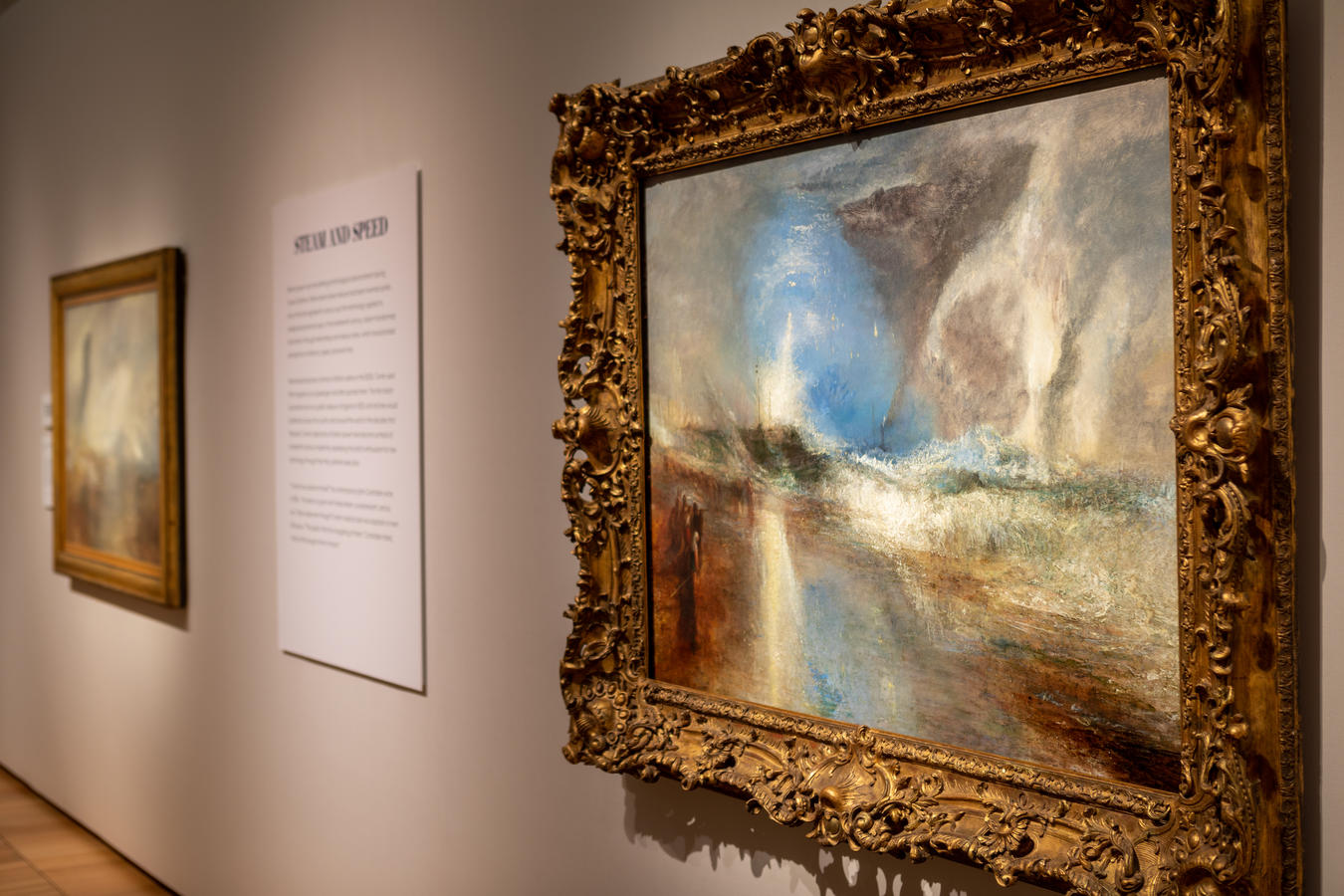 """Photo © Robert LaPrelle, Kimbell Art Museum J. M. W. Turner, """"Rockets and Blue Lights (Close at Hand) to Warn Steam Boats of Shoal Water,"""" 1840. Oil on canvas. Sterling and Francine Clark Art Institute, Williamstown, Massachusetts"""