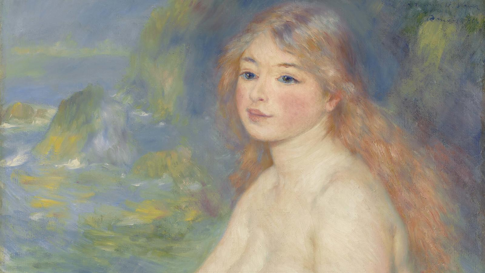 "Header: Renoir, ""Blonde Bather"""