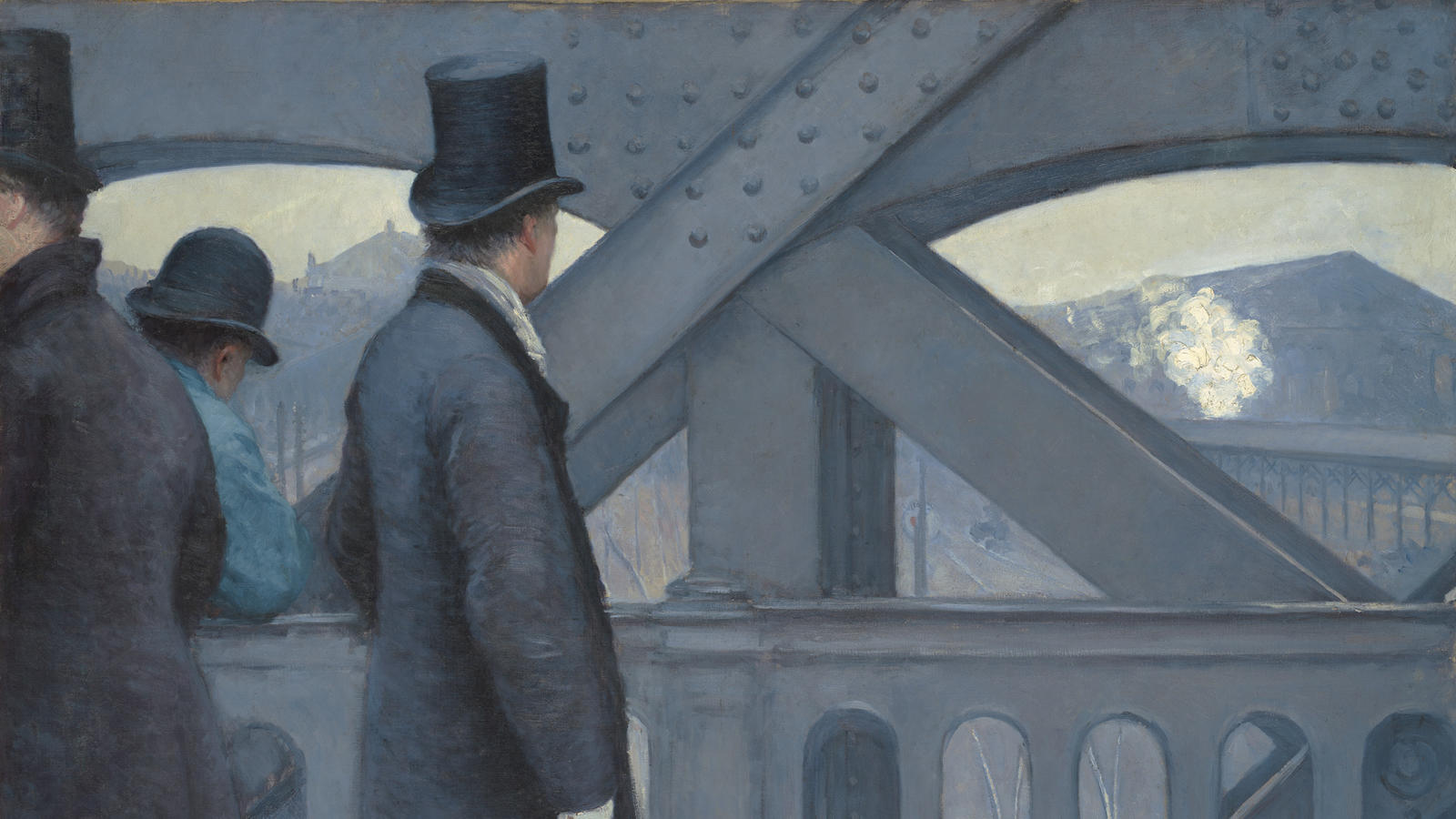 Caillebotte, On the Pont de L'Europe (detail)