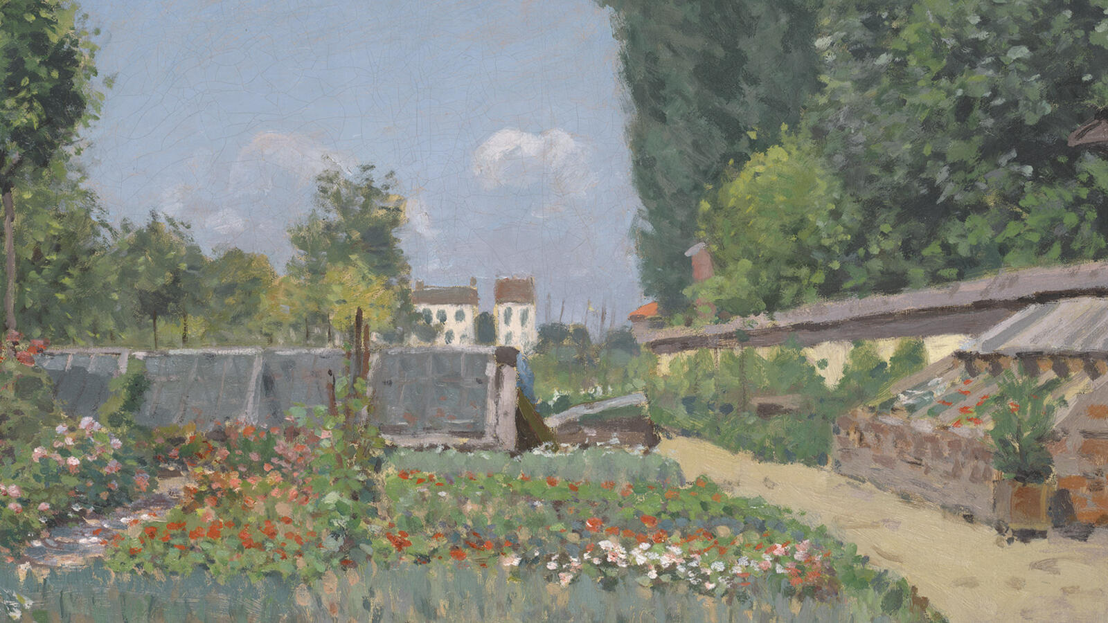 Sisley, The Kitchen Garden (detail)