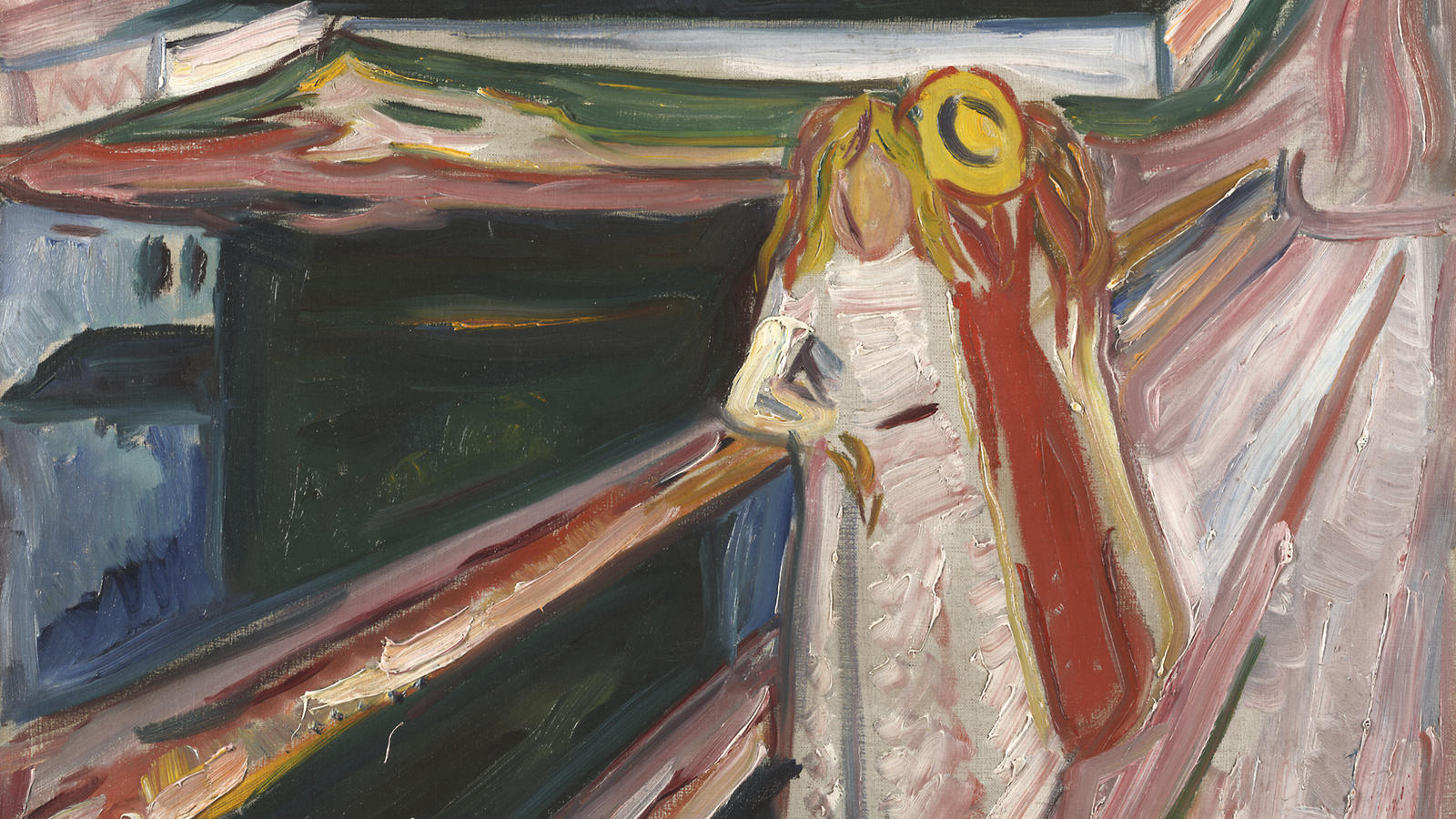 Edvard Munch, Girls on the Pier (detail)